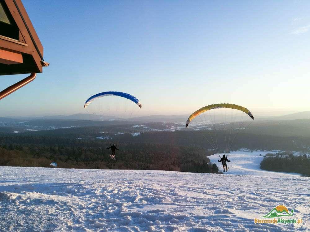 Snowglideing w Bezmiechowej.