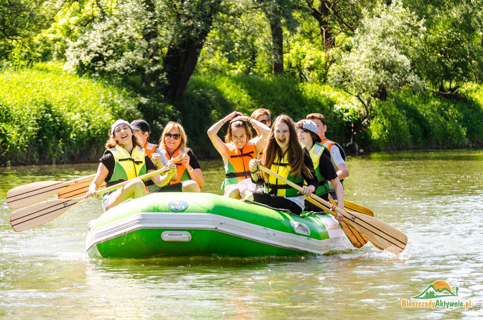 Spływy pontonowe dla grup dzieci i młodzieży
