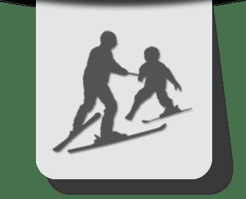 Szkółka narciarska przy wyciągu